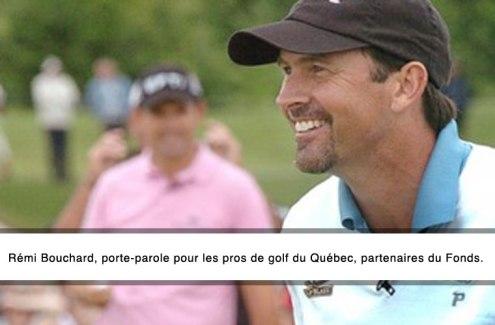 Remi Bouchard, porte-parole des Pros du golf du Québec, partenaires du Fonds